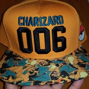 Snap back pokemon orange  blue no tags